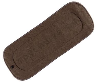 Пятислойный вкладыш из угольного бамбукового фибра с кнопкой (Трусишка Премиум)
