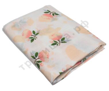 Муслиновая пеленка Розовые пионы (хлопок)