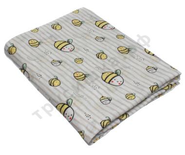 Муслиновая пеленка Полосатые пчелки (бамбук-хлопок)