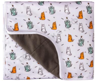 Впитывающая пеленка Коты (бамбук-уголь) 70*120