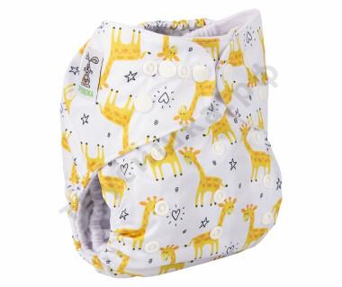 Трусишка Бортики Желтые жирафы (микрозамша)