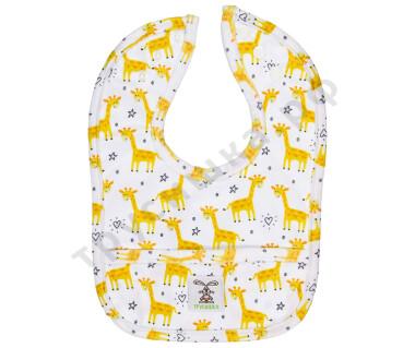 Нагрудник Трусишка Желтые жирафы