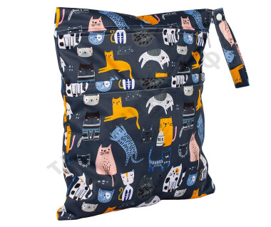Непромокаемая сумочка Коты на темном