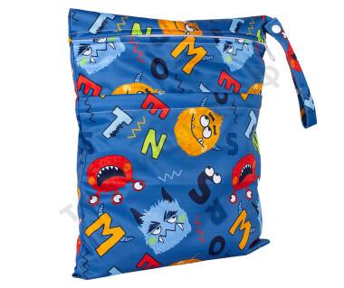 Непромокаемая сумочка Монстрики на синем