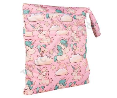 Непромокаемая сумочка Розовый единорог