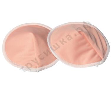 Прокладки для груди Эрго Розово-персиковый (бамбук-уголь)