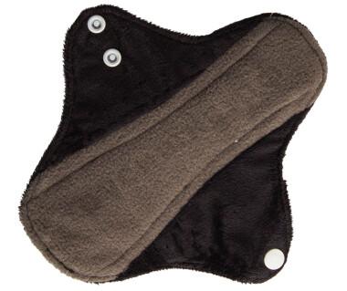 Прокладки ежедневные Эрго Черный (плюш) бамбук-уголь