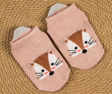 Укороченные носочки Лисичка