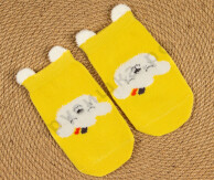 Носочки объемные Желтая собачка
