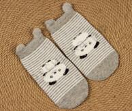 Носочки объемные Панда на сером