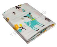 Муслиновое одеяло Голубой олень, хлопок, 6 слоев