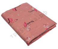 Муслиновая пеленка Розовый фламинго (бамбук-хлопок)