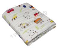 Муслиновое одеяло Машины, хлопок, 6 слоев