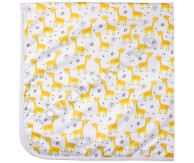 Впитывающая пеленка Желтые жирафы (микрозамша) 74*74