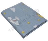 Муслиновая пеленка Мышонок и месяц (бамбук-хлопок)