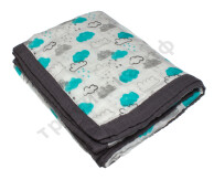 Муслиновое одеяло Голубые облака, бамбук-хлопок, 6 слоев