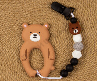 Силиконовый грызунок-прорезыватель Бурый медведь