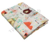 Муслиновая пеленка Вигвам и медведь (бамбук-хлопок)