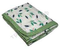Муслиновое одеяло Олива, бамбук-хлопок, 6 слоев