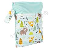 Непромокаемая сумочка Лиса и медведь/Мятный