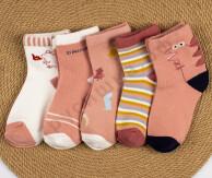 Носочки Розовый динозавр (комплект 5 шт)