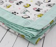 Муслиновое одеяло Животный мир, бамбук-хлопок, 4 слоя